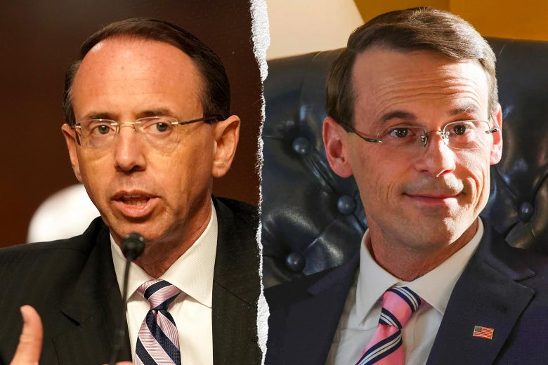Rod Rosenstein, and Scoot McNairy as Rod Rosenstein in The Comey Rule.