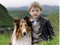 Mason as Lassie and Jonathan Mason as Joe Carraclough. Click image to expand.