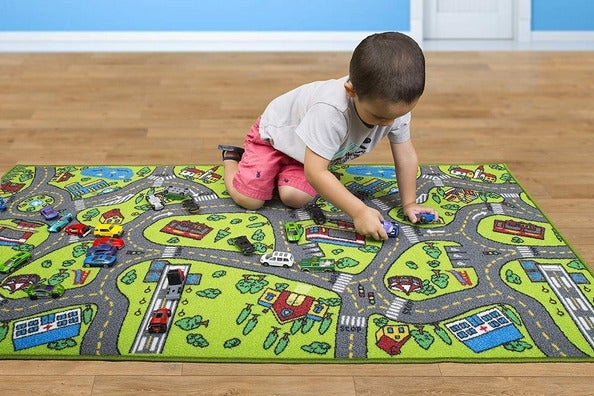 boy on play mat