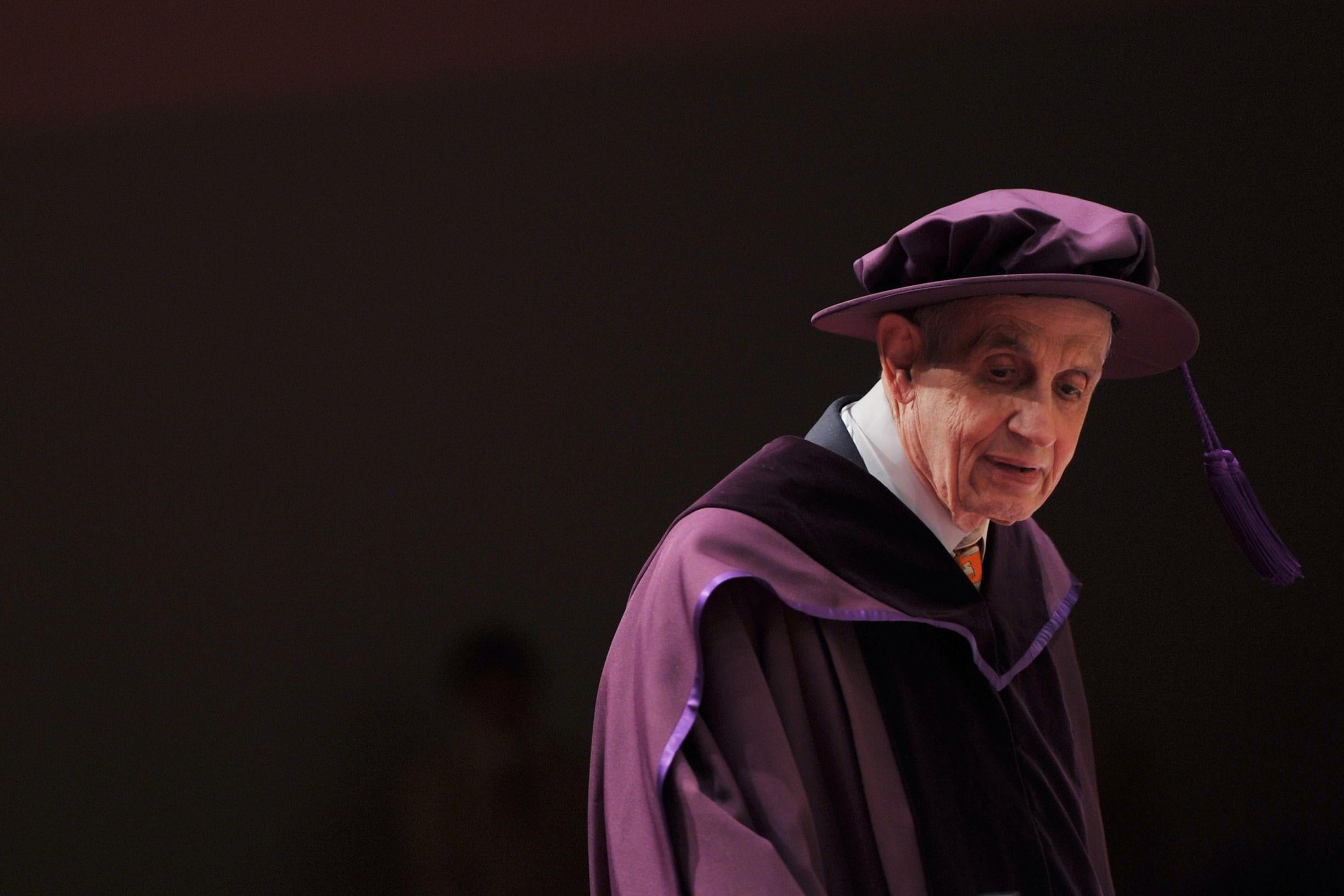 Professor John Forbes Nash, Jr, winner of the Nobel Prize in Economic Sciences, was conferred an honorary doctorate of science at the City University of Hong Kong on November 8, 2011.