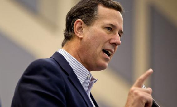 Santorum speaks to supporters and caucus voters during a campaign stop March 17, 2012