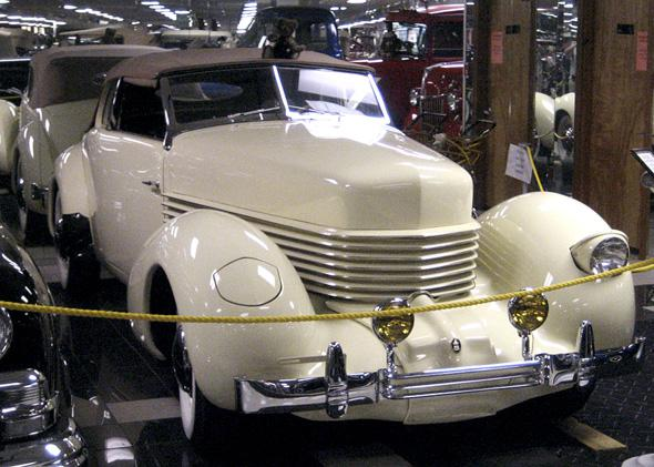 1936 Cord 810 Convertable Phaeton on display at Tallahassee Automobile Museum.