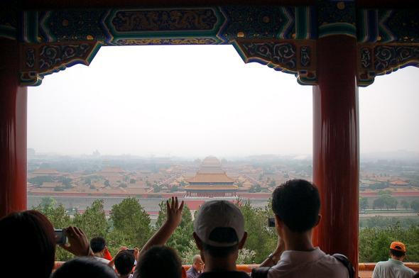 The view of the Forbidden City from Jingshan Park, the tallest p