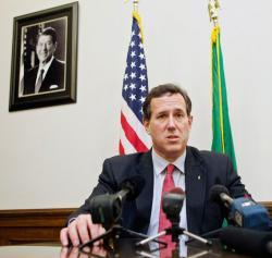 Republican presidential candidate Sen. Rick Santorum.