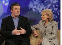 Alec Baldwin with Barbara Walters on The View