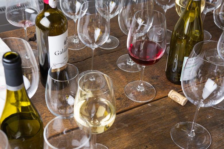 assorted wine glasses