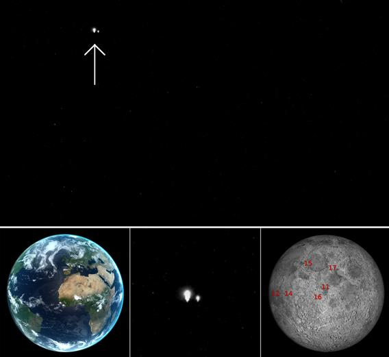 Earth and Moon seen by MESSENGER