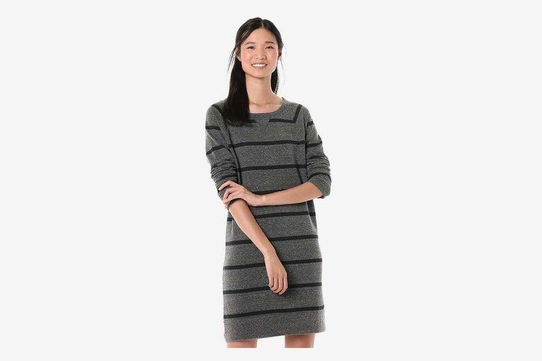 Goodthreads Women's Modal Fleece Popover Sweatshirt Dress