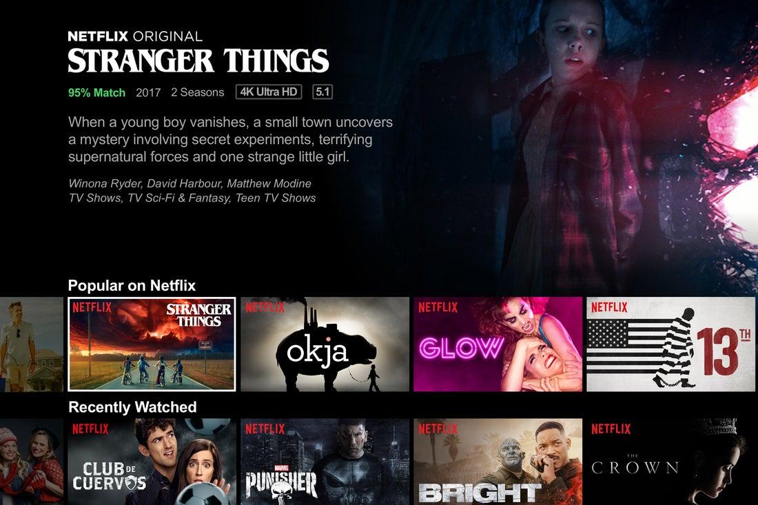 the Netflix website
