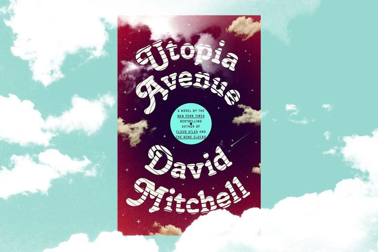 Utopia Avenue book cover in the clouds.