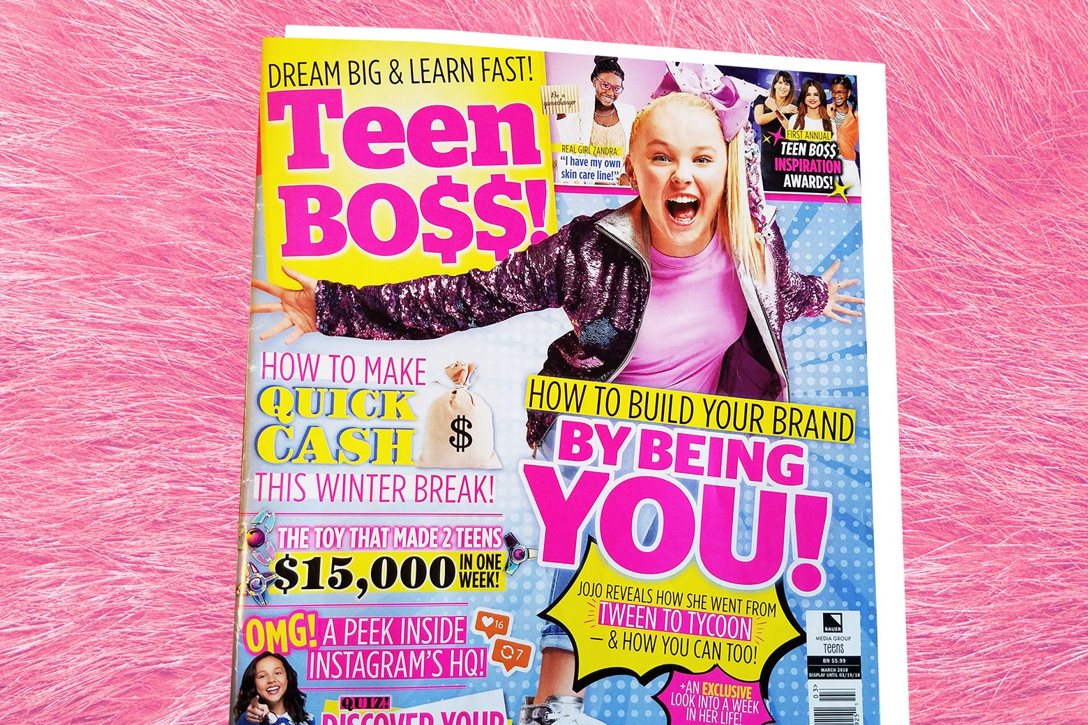 Teen Boss magazine with JoJo Siwa on the cover.