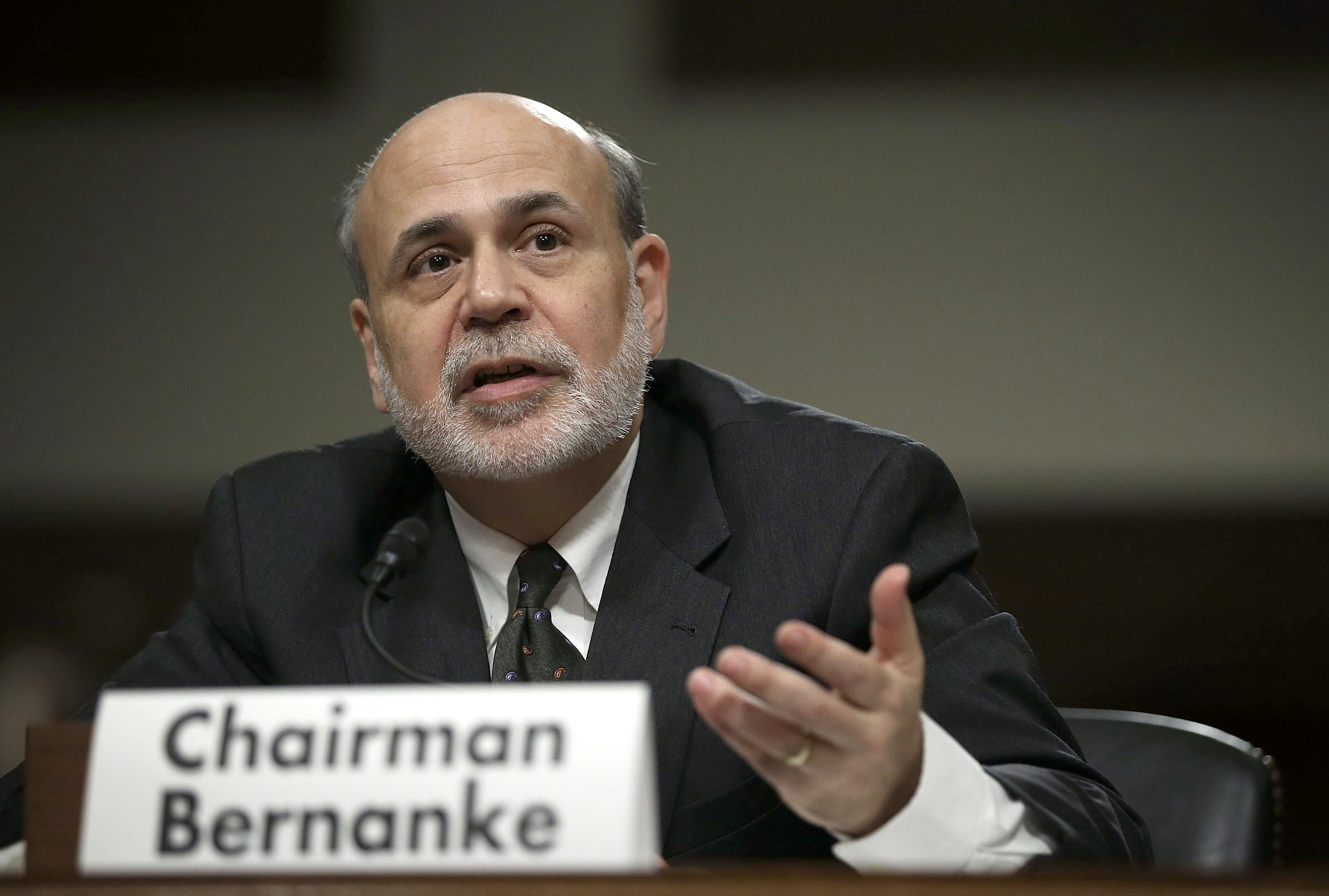 Federal Reserve Board Chairman Ben Bernanke testifies during a hearing before the Joint Economic Committee May 22, 2013, on Capitol Hill in Washington, D.C.