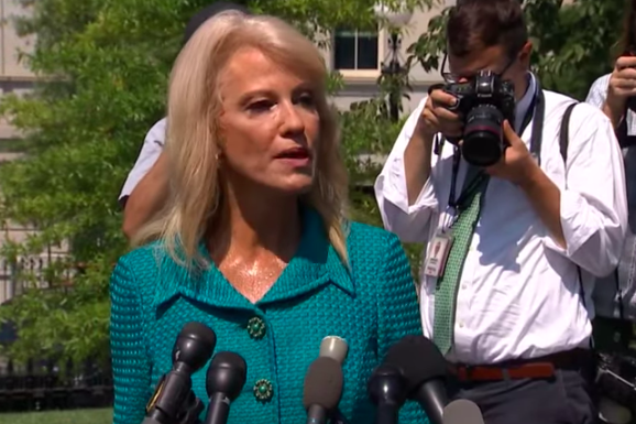 """Kellyanne Conway Asks """"What's Your Ethnicity?"""" in Response to Reporter's Questioning of Trump's """"Go Back"""" Tweets"""