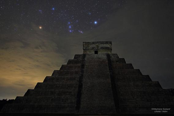 Orion over the temple of Kukulkan
