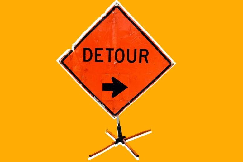 Detour sign.