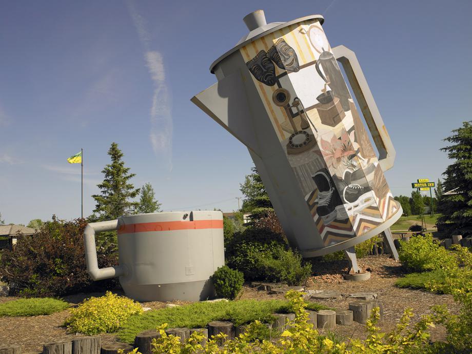 World's Largest Coffee Pot and Mug. Davidson, Saskatchewan July 2011