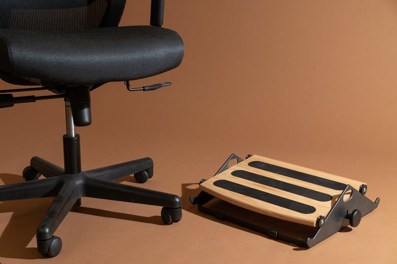 An office chair with the Humanscale FR300 Foot Rocker