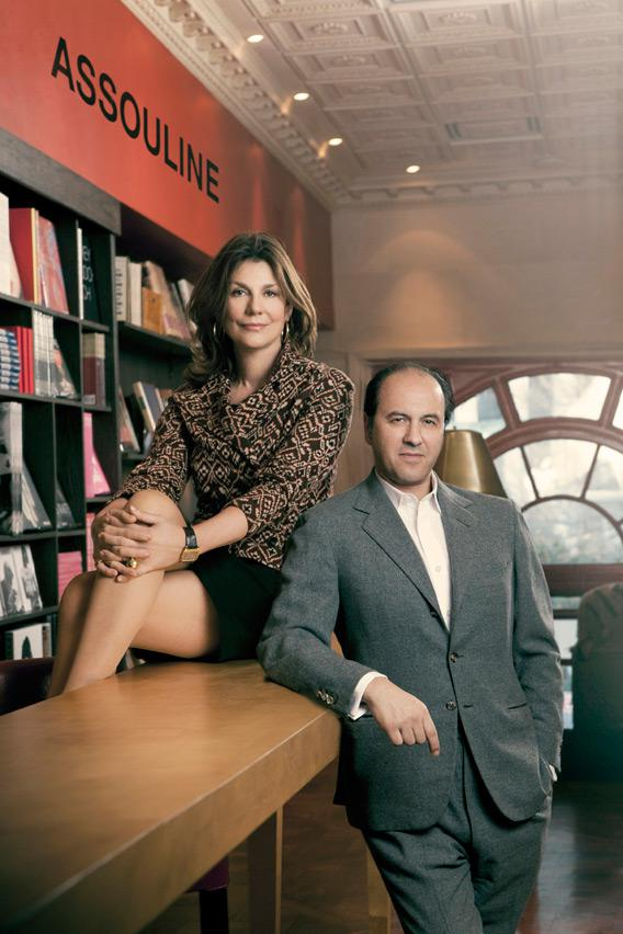 Book publishers Martine Assouline and Prosper Assouline.