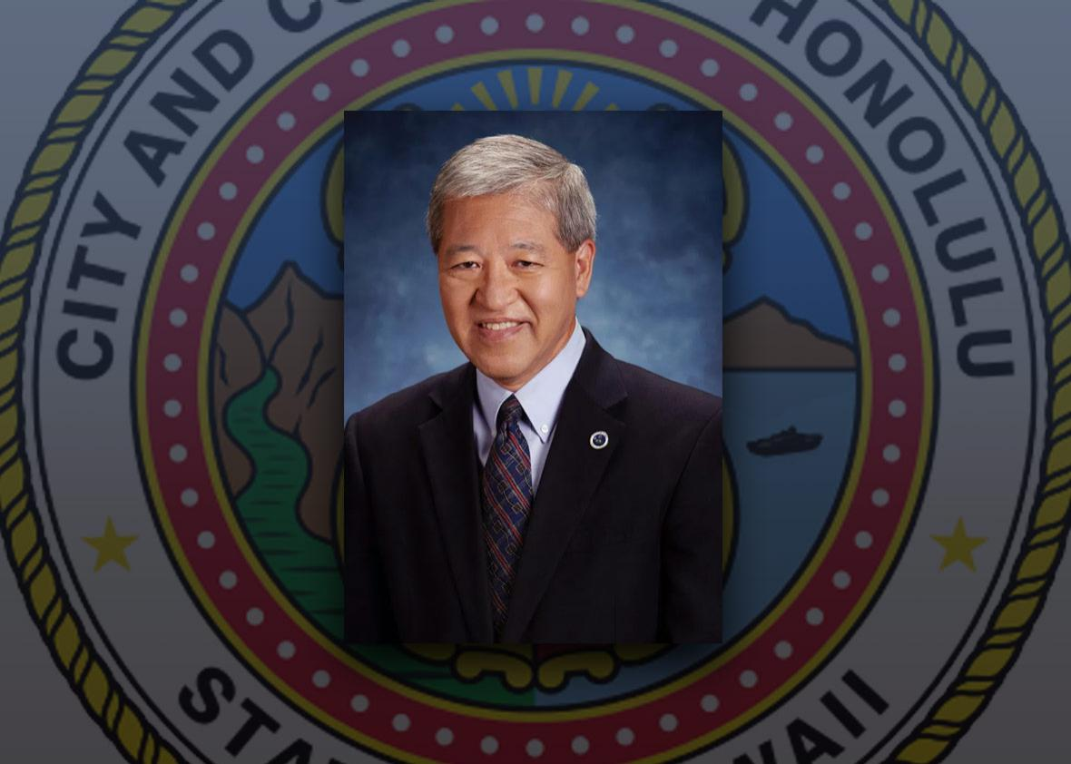 Photo illustration by Slate. Photos Department of the Prosecuting Attorney City & County of Honolulu.