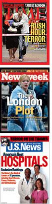 Time, Newsweek, and U.S. News and World Report