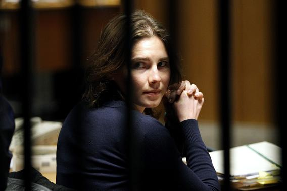 Amanda Knox, the U.S. student convicted of killing her British flatmate in Italy three years ago, sits in the courtroom after a break during a trial session in Perugia March 12, 2011.
