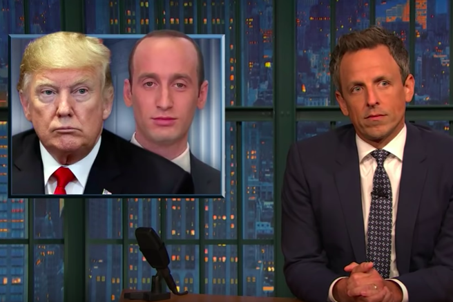 Seth Meyers Reminds Us That Stephen Miller's Assault on Legal Immigration Continues at the White House