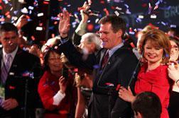 Senator-elect, Republican Scott Brown and his wife Gail Brown.