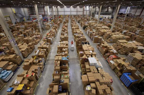 Amazon's 800,000-square-foot fulfilment center in Swansea, Wales.