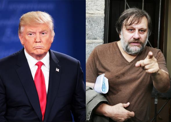 Donald Trump and Slavoj Zizek
