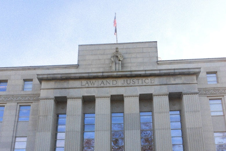 The exterior of the The North Carolina Supreme Court building.