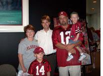 Generations of Bama fans at the Bear Bryant Museum