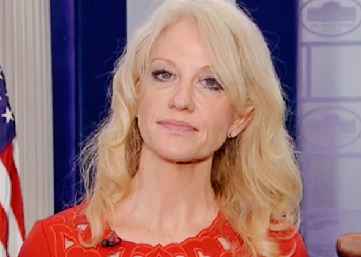 Kellyanne Conway appearing on The Today Show, Feb. 14, 2017.
