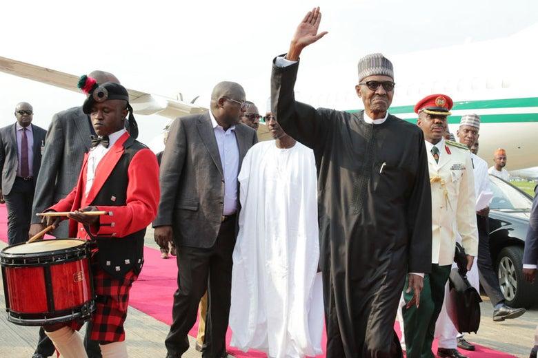 Nigerian president Mohammadu Buhari in Abuja, Nigeria on August 19, 2017.