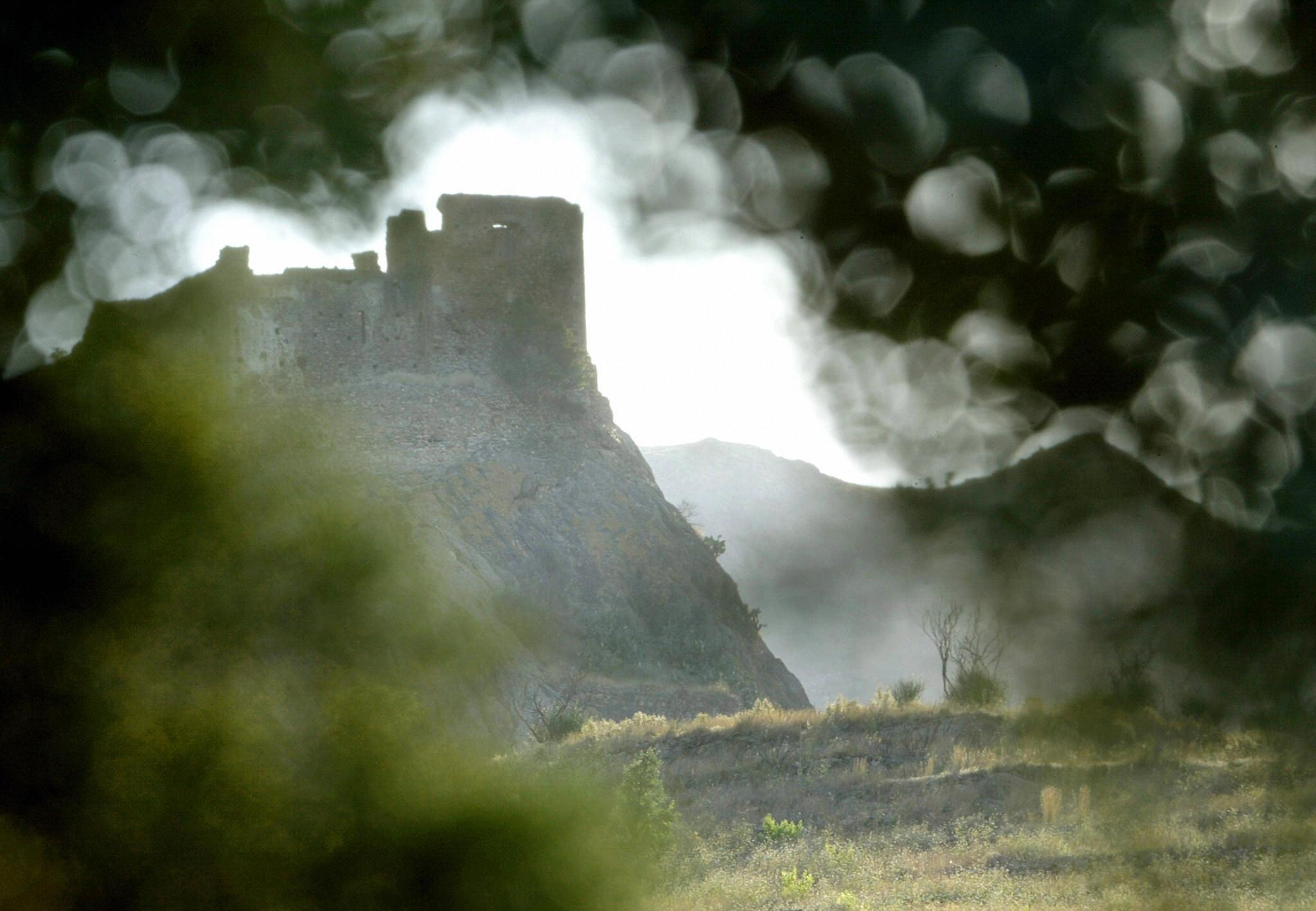 The  medieval castle of Quermanco