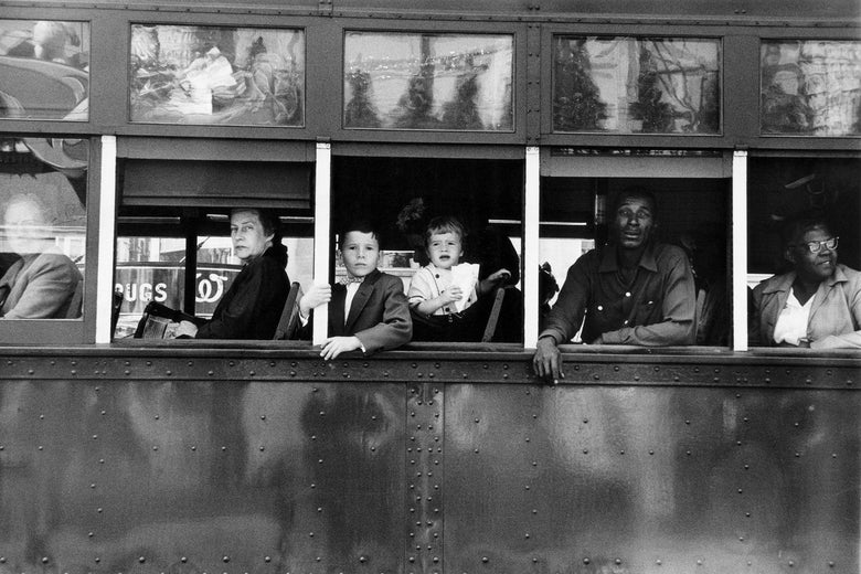 Robert Frank's Trolley—New Orleans, 1955