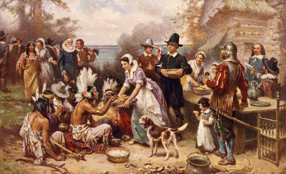 The first Thanksgiving 1621.