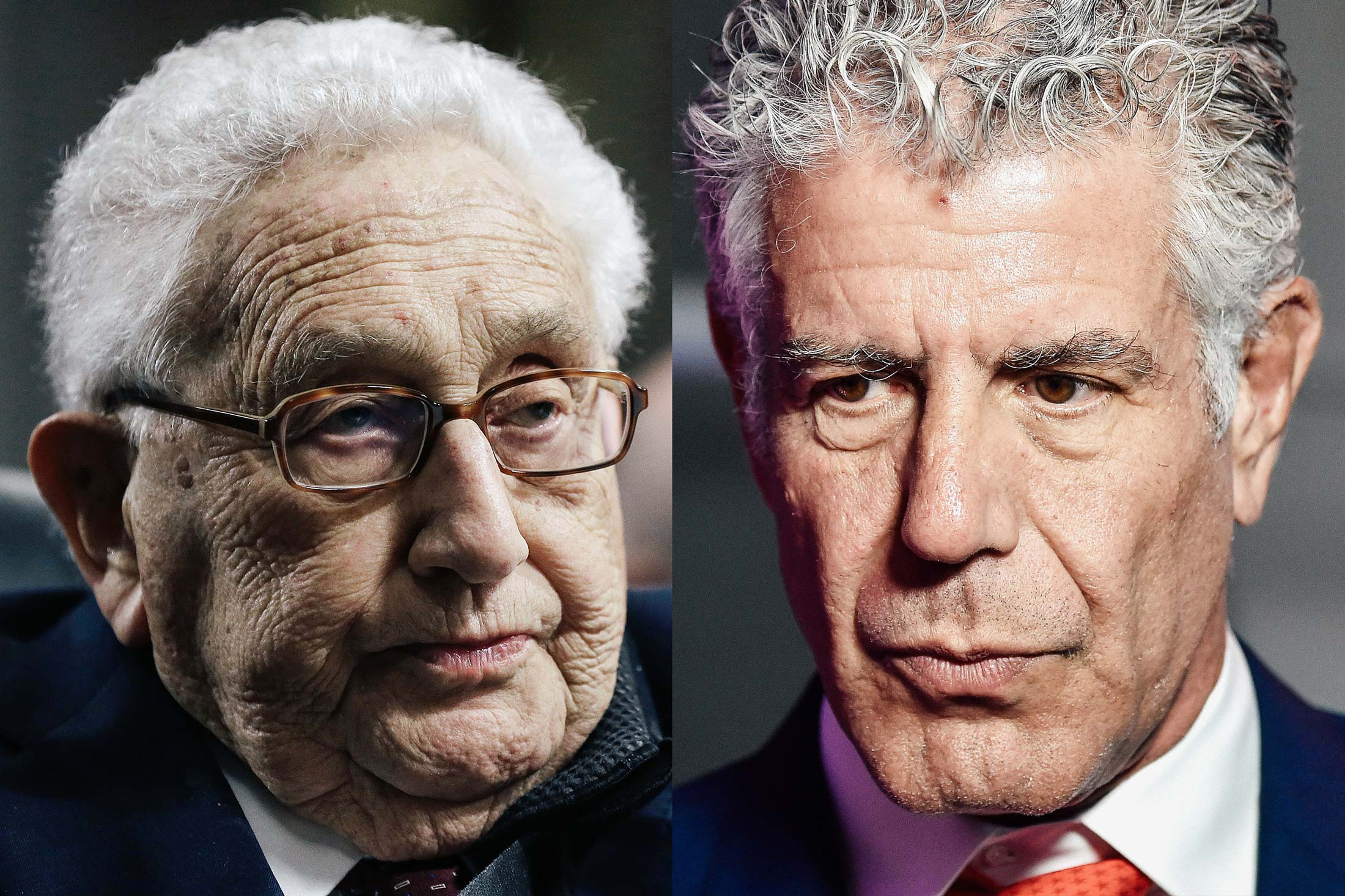 Henry Kissinger, Anthony Bourdain.