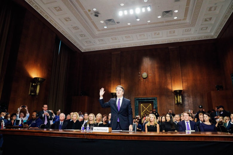 Brett Kavanaugh testifies to the Senate Judiciary Committee.