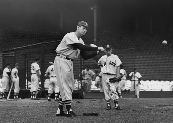 Baseball legend Ted Williams