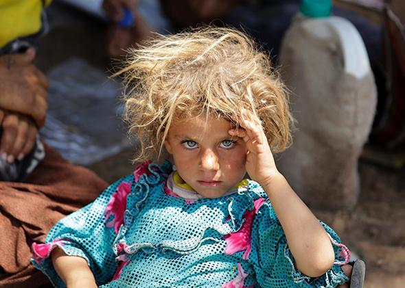 Yazidi girl, Dohuk province
