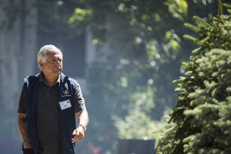 Leslie 'Les' Moonves, president and chief executive officer of CBS Corporation, attends the annual Allen & Company Sun Valley Conference, July 11, 2018 in Sun Valley, Idaho. Every July, some of the world's most wealthy and powerful businesspeople from the media, finance, technology and political spheres converge at the Sun Valley Resort.