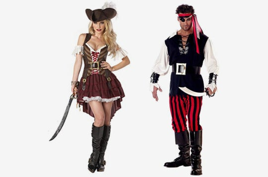 Couple dressed as pirates.