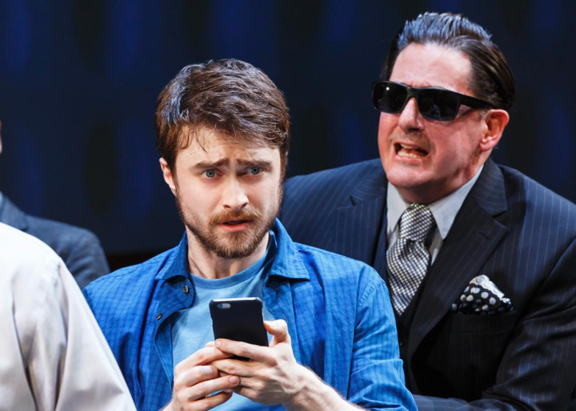 Daniel Radcliffe, Michael Countryman, Raffi Barsoumian, and Reg Rogers in Privacy.