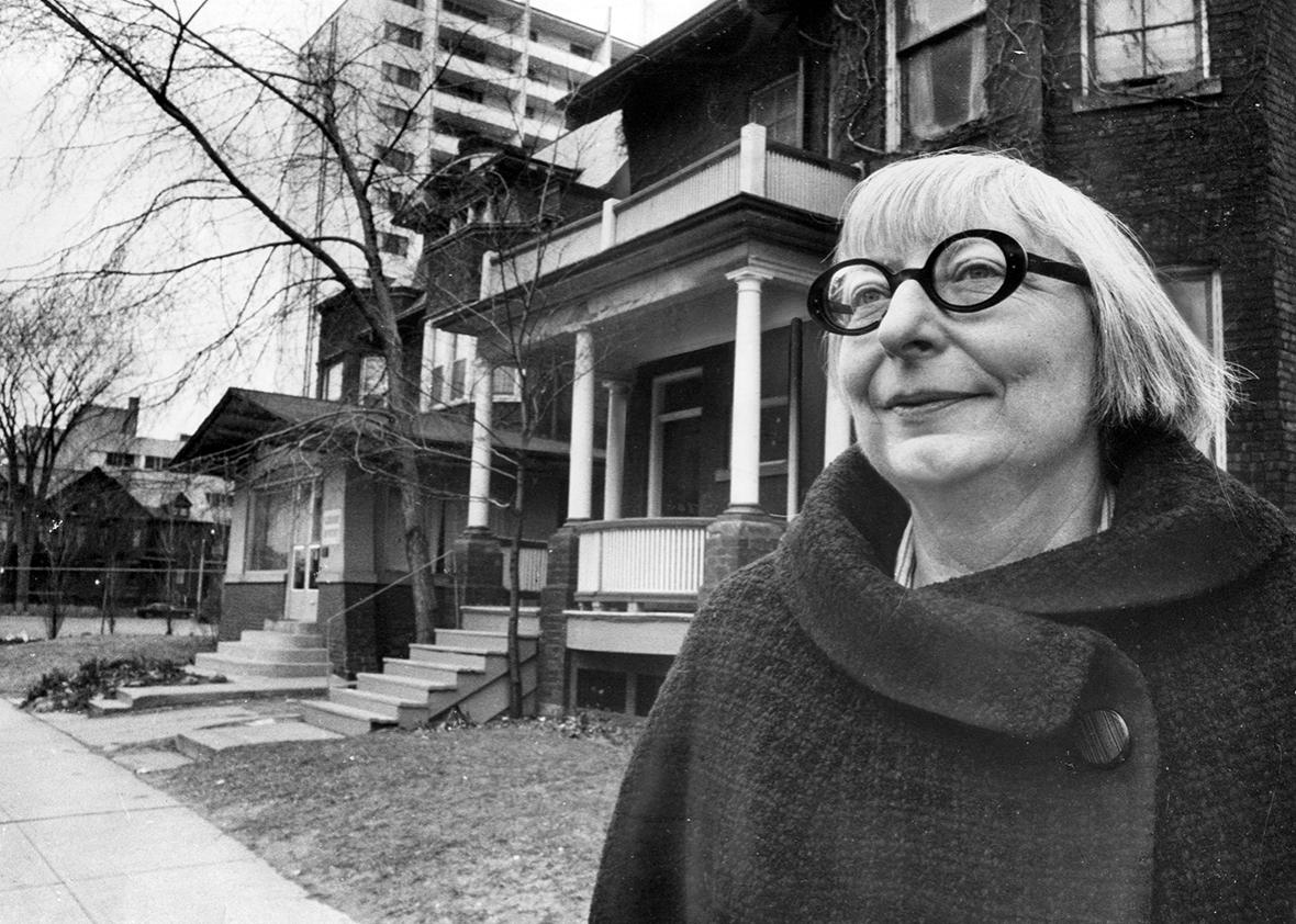 Jane Jacobs outside her home on Spadina Road just north of Bloor Street Dec. 21, 1968.