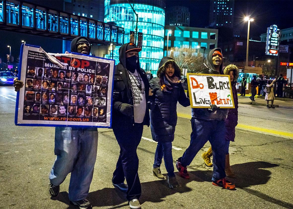 Black Lives Matter police brutality.
