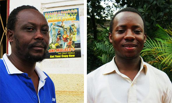 Film director Isaac Nabwana and Peter Wamala