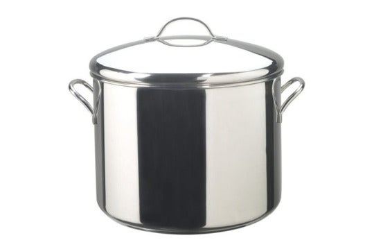 Farberware Classic Stainless Steel 16-Quart Covered Stockpot.