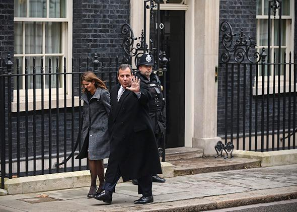 Chris Christie in London