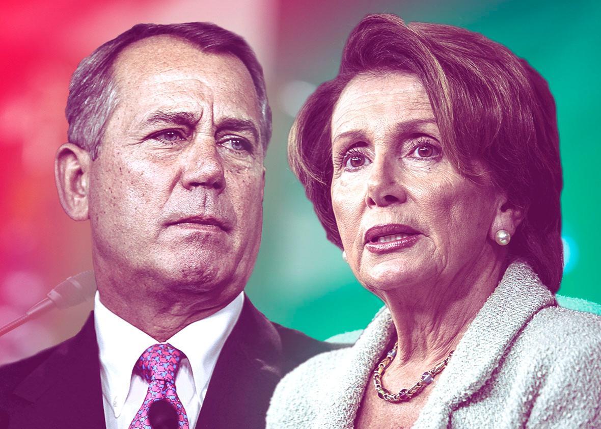 Republican House Speaker John Boehner and House Minority Leader ,Republican House Speaker John Boehner and House Minority Leader Rep. Nancy Pelosi (D-CA).