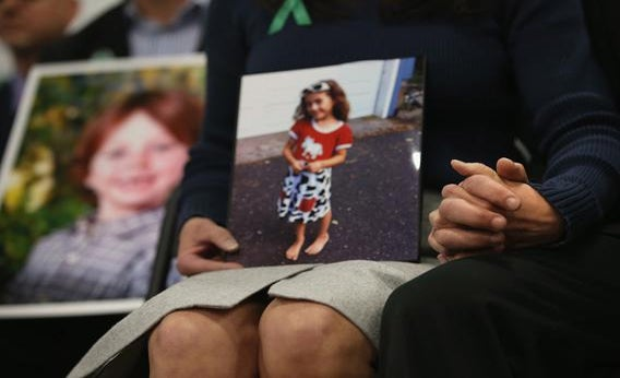 Parents of Sandy Hook Elementary massacre victims at a press conference